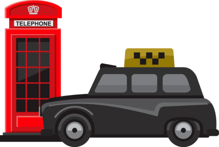 taxi telephone booth
